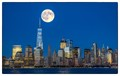 Harvest Moon Over Manhattan