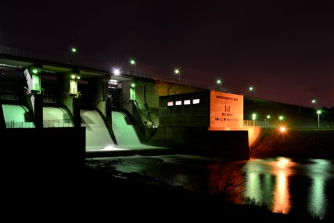Priest Dam @ Night