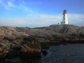 Lighthouse at Peggy's Point, commonly known as Peggy's Cove, Nova Scotia, Canada