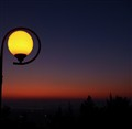 night,lamp and fading sun