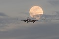Jet and Full Moon