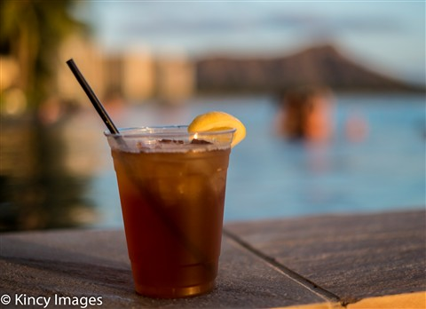 A Refreshing Beverage at the Infinity Pool