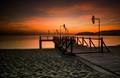 Dawn in Nha Trang Beach