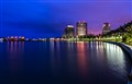 Flagler Drive Palm Beach, Florida at Blue Hour