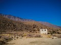 A deserted shed in the desert surrounding Palm Springs.