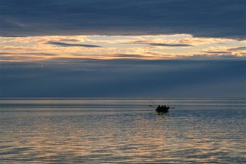 At sea fishing