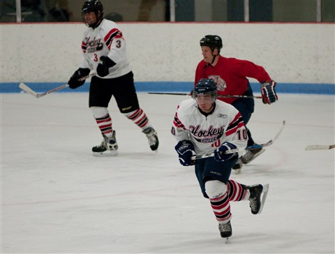 Adult league hockey