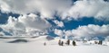 Hayden Valley of Yellowstone NP in winter