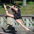 Dancing in Central Park at Bethesda Fountain