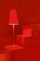 Palma de Mallorca a shop desplay on ave Sant Miquel red lamp