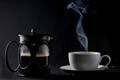 Cafetiere and Coffee Cup