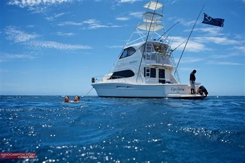 In the water Fiji