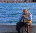 Elderly Venetian Gentleman Alone In His Thoughs