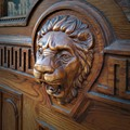 Detail of carved wooden doors