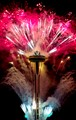 New Year's fireworks at the Seattle Space Needle
