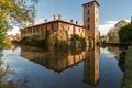 Milano. Castello di Mirazzano in autumn