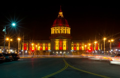 49er colors City Hall