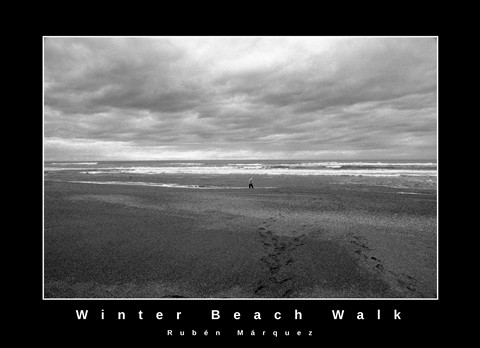 Winter beach walk