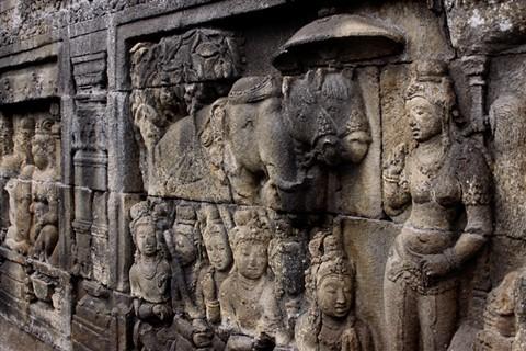 Borobudur relief wall