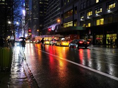 Rainy night, NYC