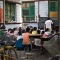 English Class in open courtyard - Pingyao, China