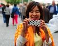 photographing a photographer photographing a female photographer
