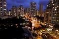 streetlights waikiki hawaii by night