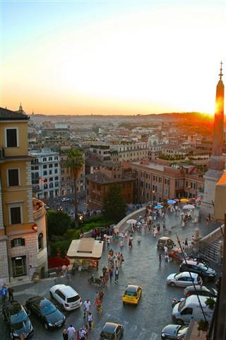 Spanish Steps at Sunset