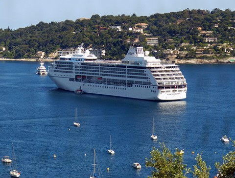 Our Cruise Ship in Cassis France