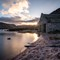 Boat House Sunset: Loch Muick