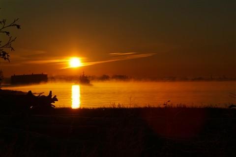 Sunrise in Steveston, Richmond BC