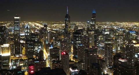 Chicago, USA at night