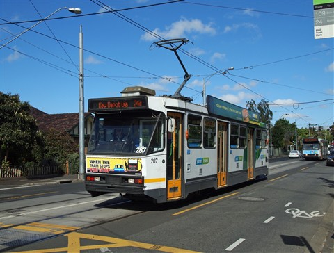 Part of the world's largest tram network - Melbourne