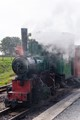Narrow gauge steam train