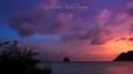 Sunset on diamond rock - Martinique