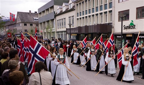Norwegian Girls in Parade