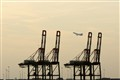 Hazy Steel Cranes at Port Newark