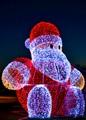 Santa claus in lights-1