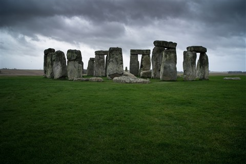 Stonehenge, storm moving in