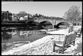Winter in the small English town of Bewdley