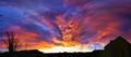 Angry sunset over Sunderland, UK.