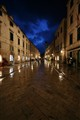 dubrovnik, croatia on a rainy night