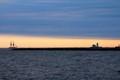 Tall Ship Sailing at Sunrise