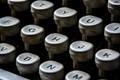 Typewriter, shot in Brazil