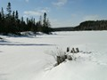 Ice on Jigging Cove Lake Cape Bretton Nova Scotia