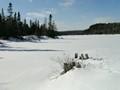 Ice on Jigging Cove Lake Cape Bretton Nova Scotia
