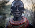 Granny at her grandsons circumcision into Samburu Warriorhood