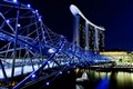 The Helix Bridge & Marina Bay Sands