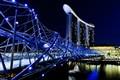 The Helix Bridge & Marina Bay Sands