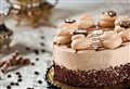 Yummy Snickers cake with caramel sauce